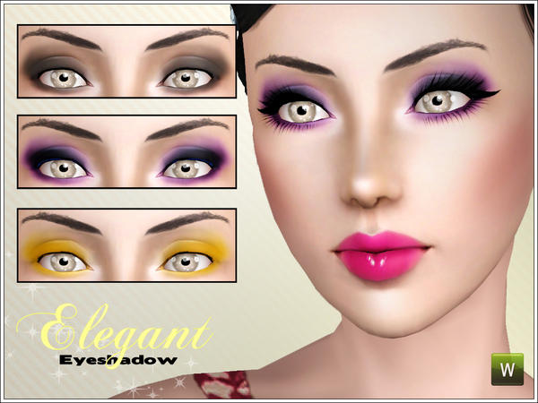 Elegant eyeshadow by icedsims