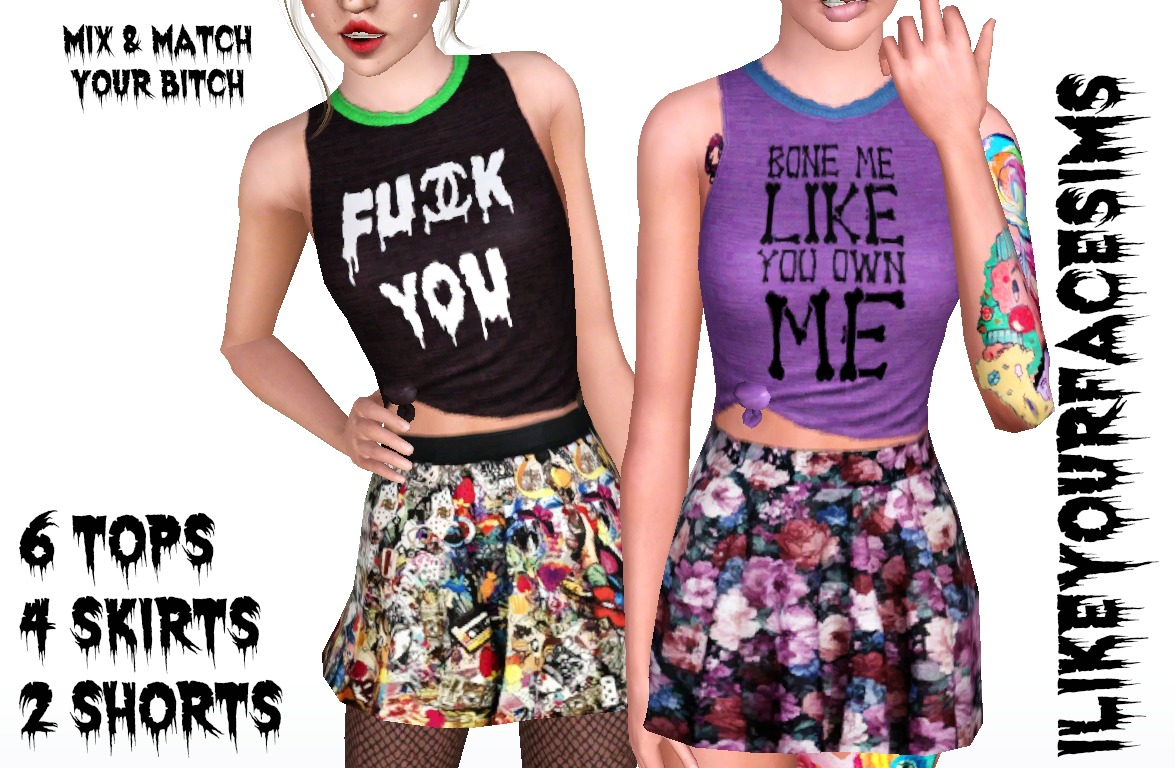 MIX & MATCH your Bitch by ilikeyourfacesims
