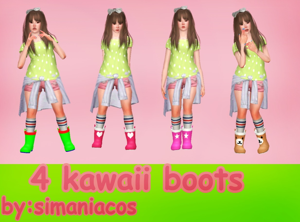 Kawaii boots by simaniacos