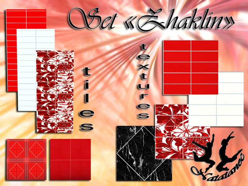 "Set  tiles and textures ""Zhaklin"" от Natatnec"