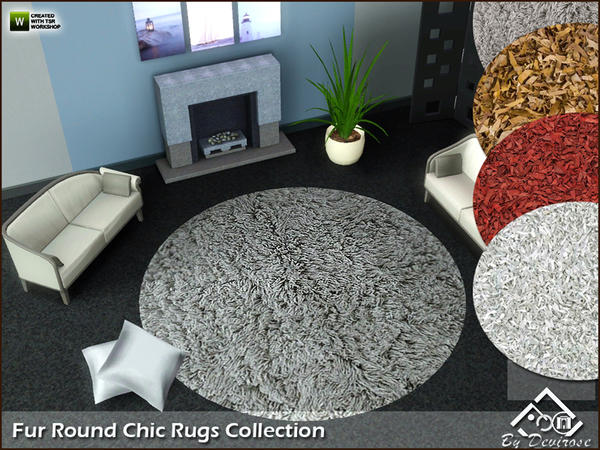 Fur Round Chic Rugs Collection by Devirose