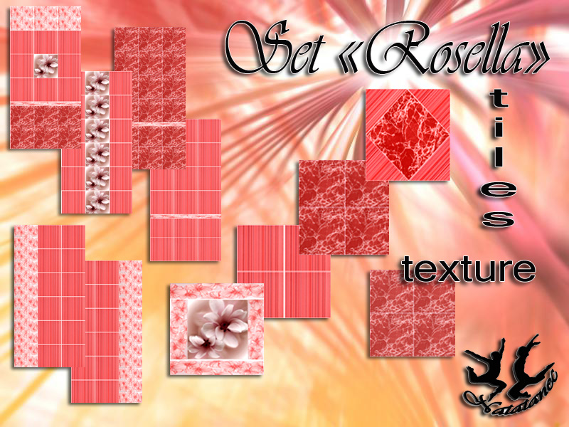 "Set tiles and textures ""Rosella"" от Natatanec"