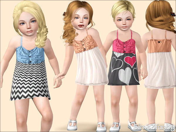 331 - Summer dress for toddler by sims2fanbg