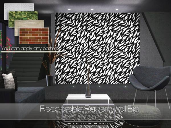 Recolorable Pattern Wall Big by Pralinesims