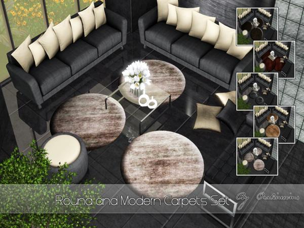 Round and Modern Carpets Set by Pralinesims