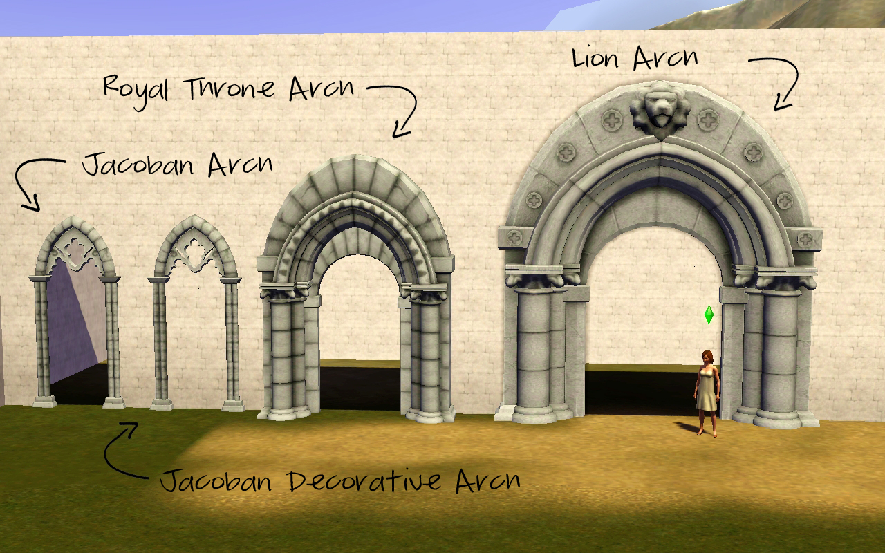 Sims Medieval Arches Converted by Rose