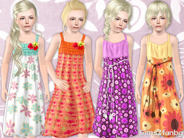 333 - Summer child set by sims2fanbg