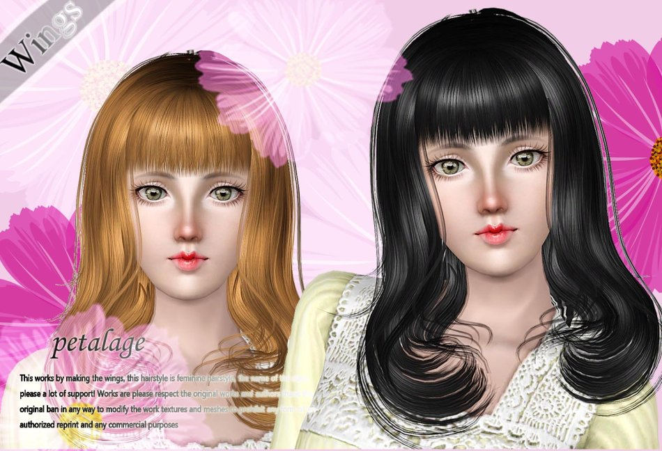 Petalage hair by Wings