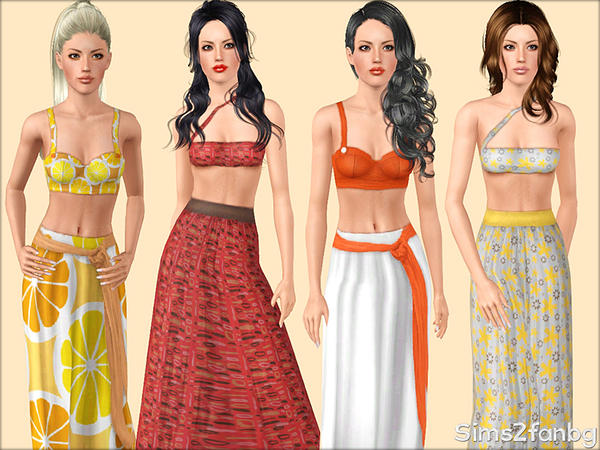 334 - Summer set by sims2fanbg