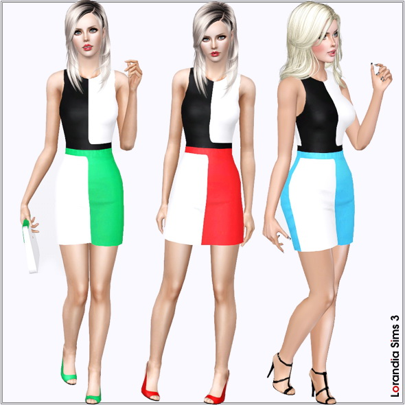 Colorblock Designer Day Dress by Lore