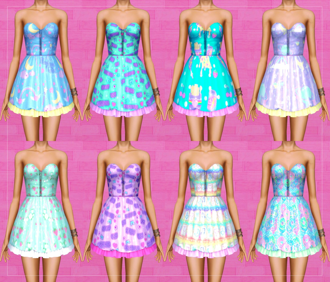 8 Adorable Dresses by Pixelatedwonderland