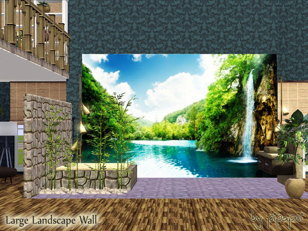 Large Waterfall Wall by pipapoi