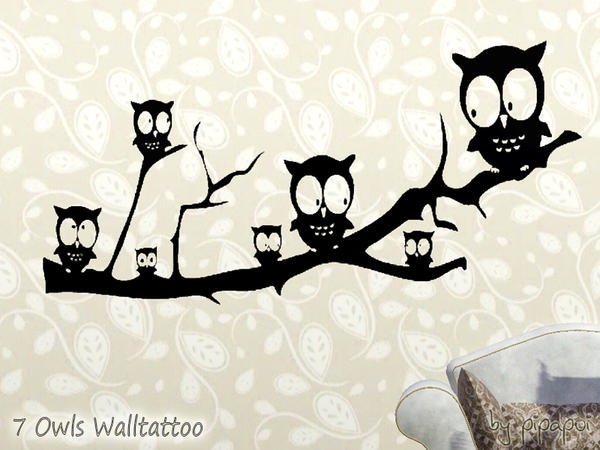 7 Owsl Walltattoo by pipapoi