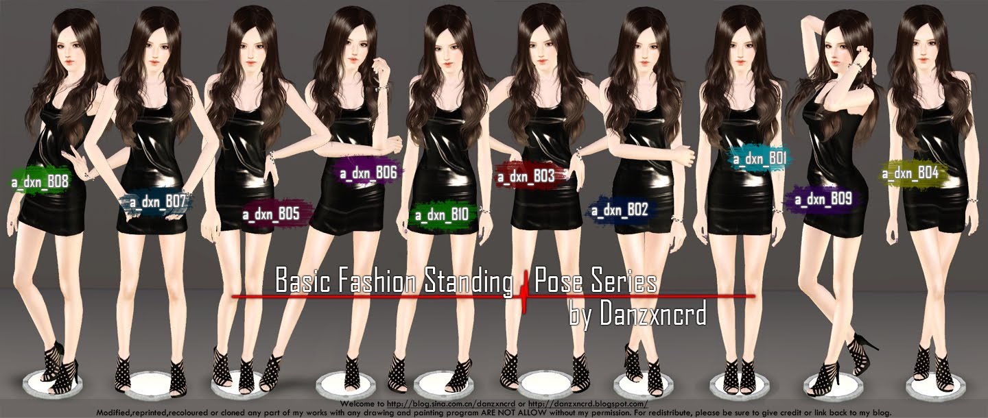 Basic Fashion Standing Pose Series by Danzxcrd
