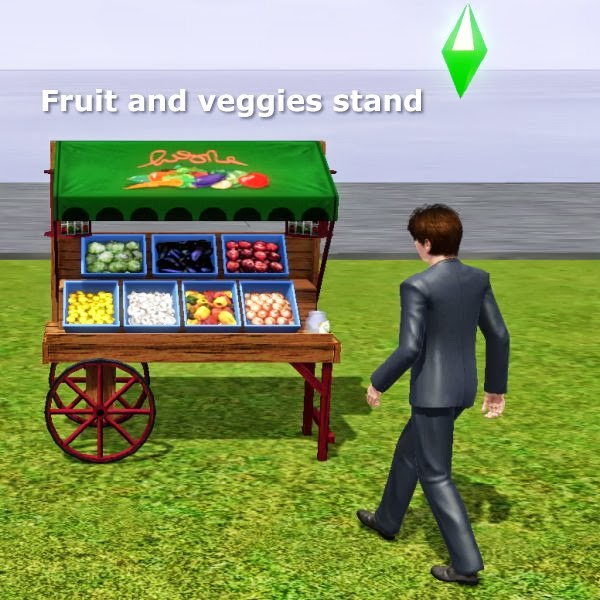 Fruit and veggies stand by CFP