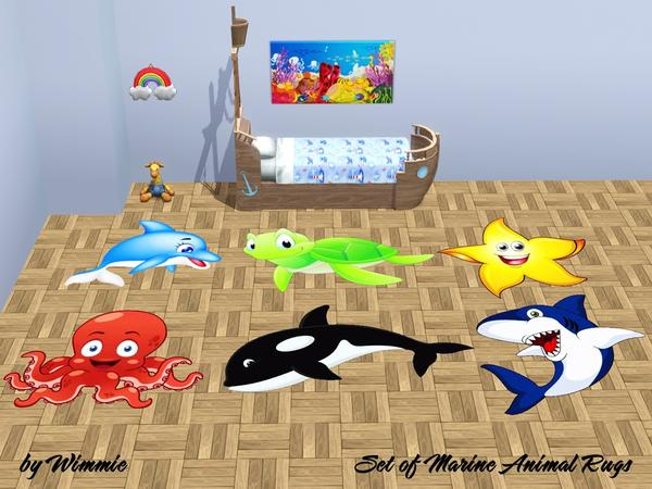 Set of Marine Animals Rugs by Wimmie