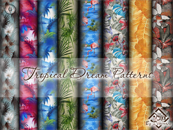 Tropical Dream Fabrics Patterns by Devirose