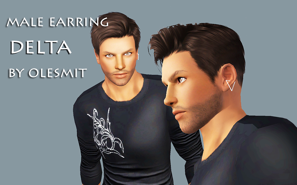 Delta Earring for Males by Olesmit