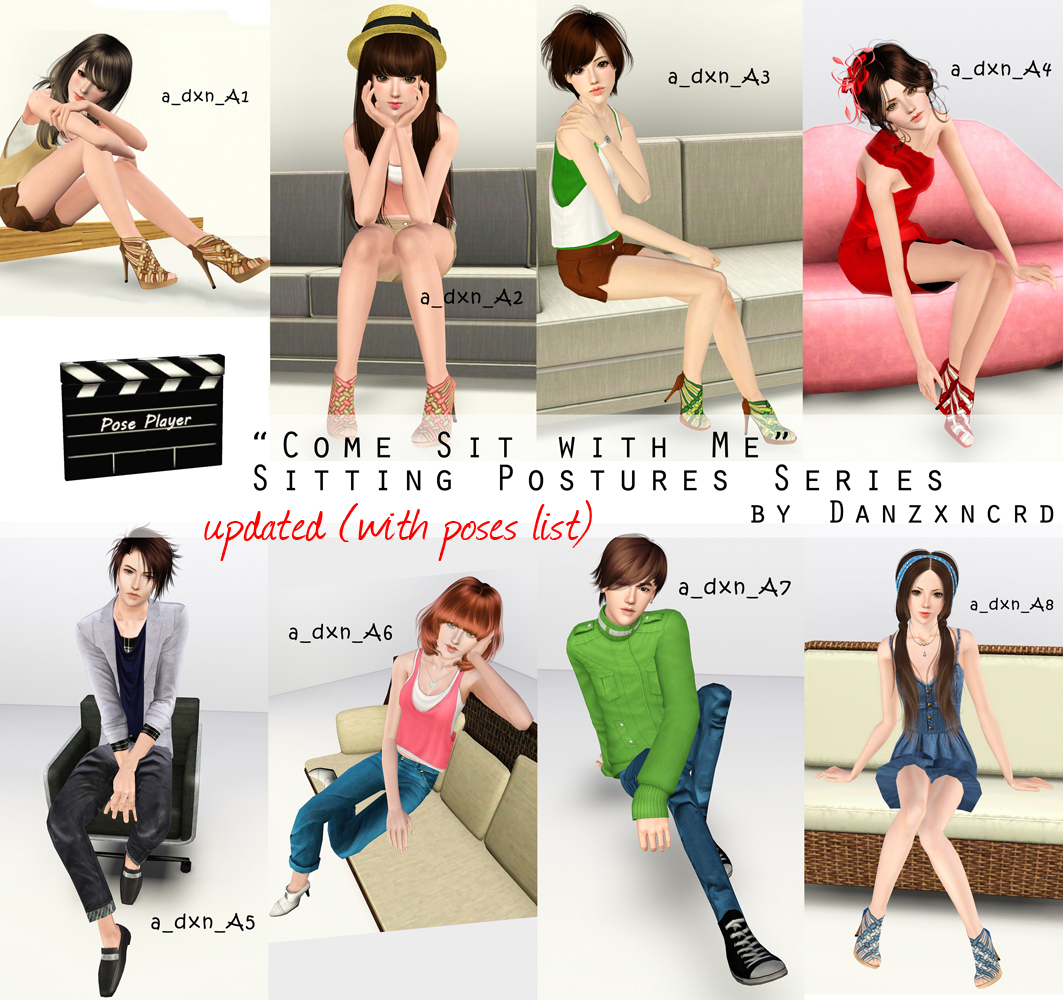 """""""Come Sit with Me"""" Sitting Postures Series by Danzxncrd"""