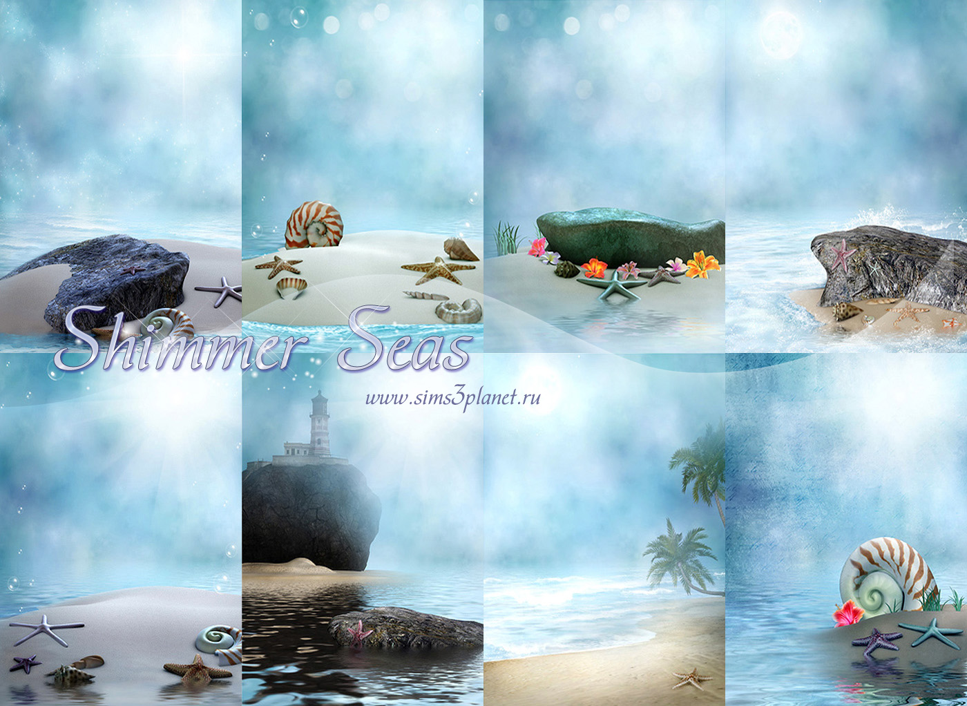 Shimmer Seas Backgrounds by Torri