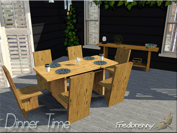 Dinner Time Outdoor Dining set by fredbrenny
