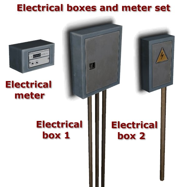 Electrical boxes and meter set by Carlos