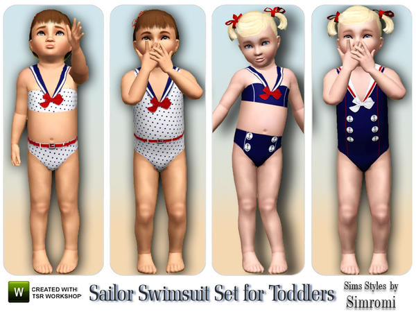 Sailor Swimsuit Set ~ PF by simromi