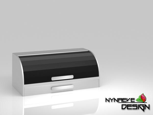 Stainless Steel Bread Box - Kitchen Decoration by NynaeveDesign