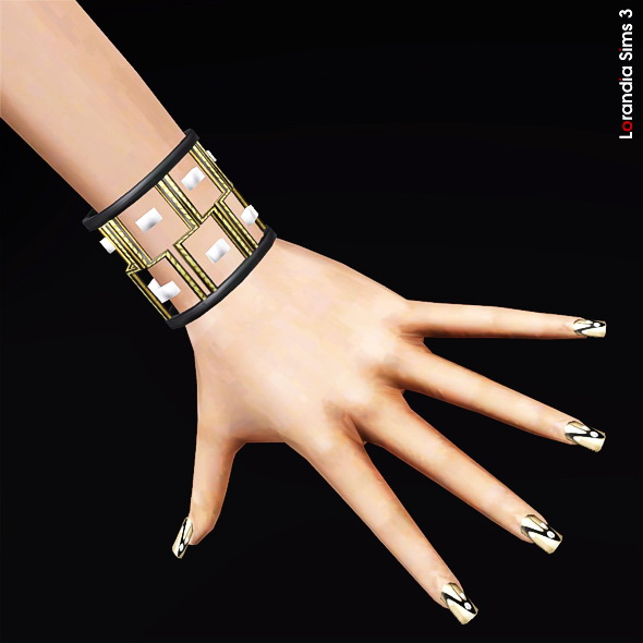 Geometric Bracelet with Visible Design Elements by Lore