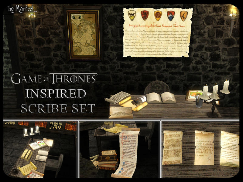Game of Thrones Inspired Scribe Set by murfeel