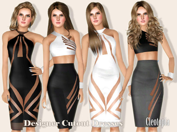Designer Cutout Pencil Dresses by Cleotopia