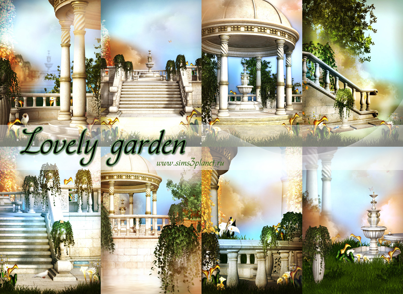 Lovely garden backgrounds by Torri