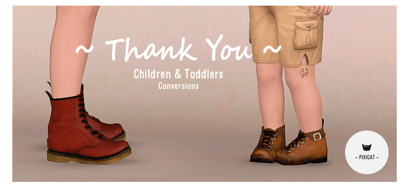 Converted most shoes for toddlers and children by pixicat
