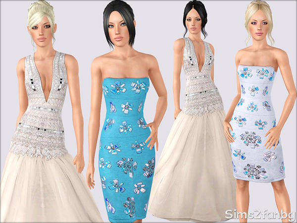 337 - Formal dresses by sims2fanbg