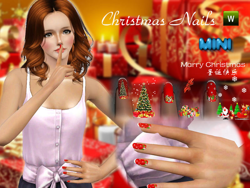 Christmas Nails by MINISZ
