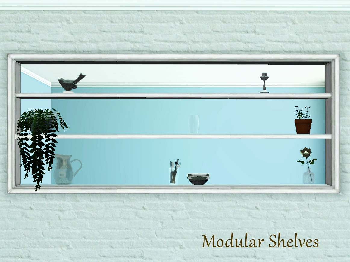 Wall Cut-Out Shelves by Pocci