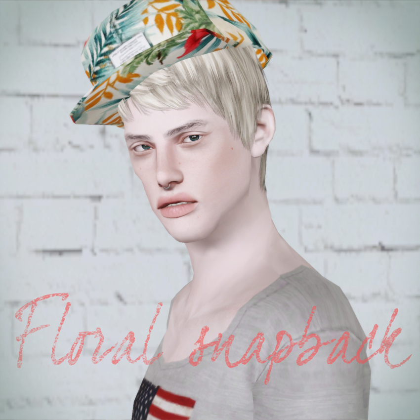 Floral snapback 01 by Simsimi