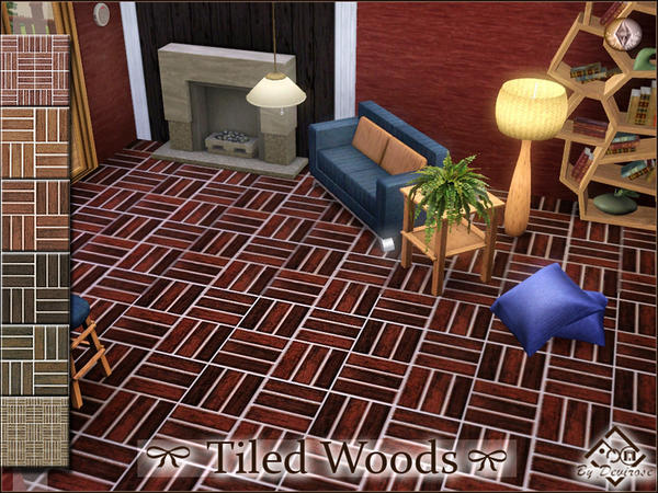 Tiled Woods Patterns Set by Devirose