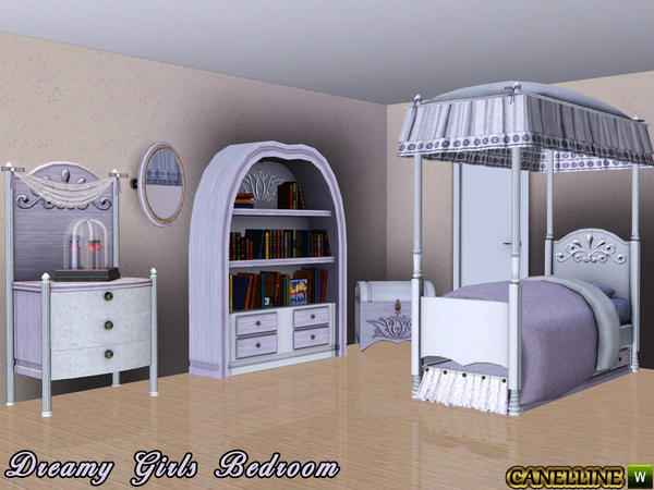 Dreamy Girls Bedroom by Canelline