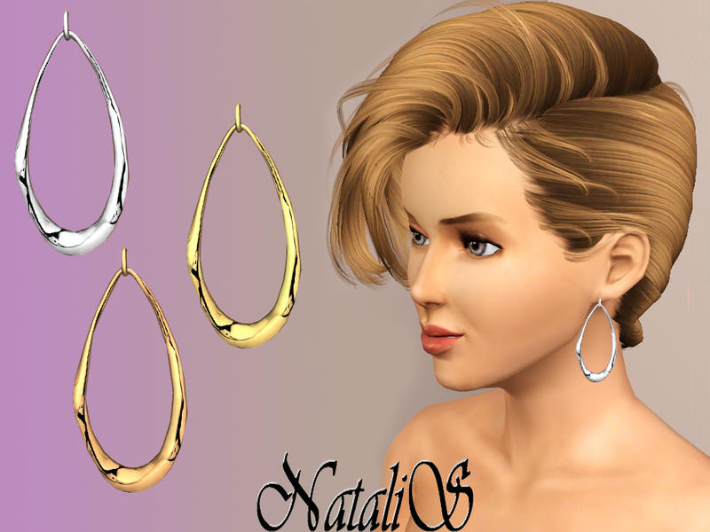 Liquid metal oval earrings FA от NataliS