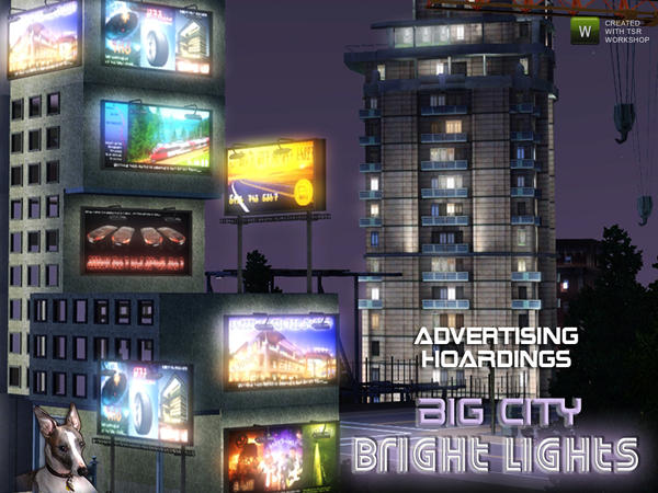 Bright Lights Advertising Hoardings by Cyclonesue