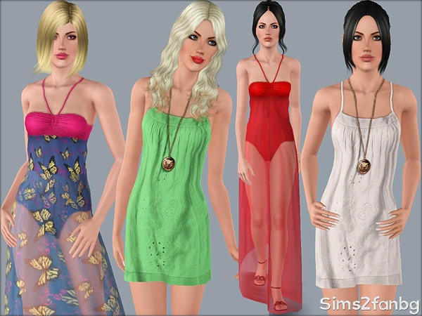 338 - Summer dresses by sims2fanbg