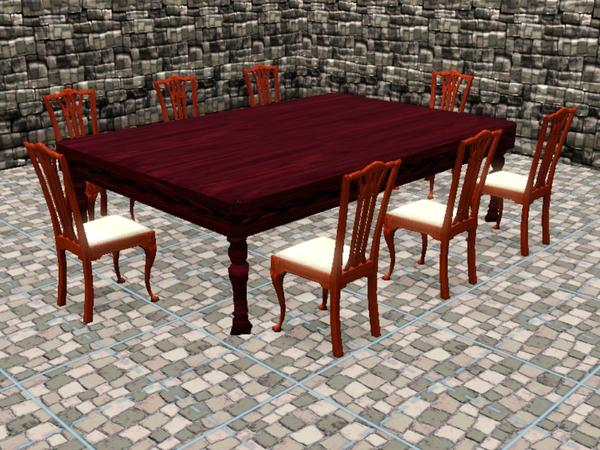 Large Dining Hall Table by Ladian