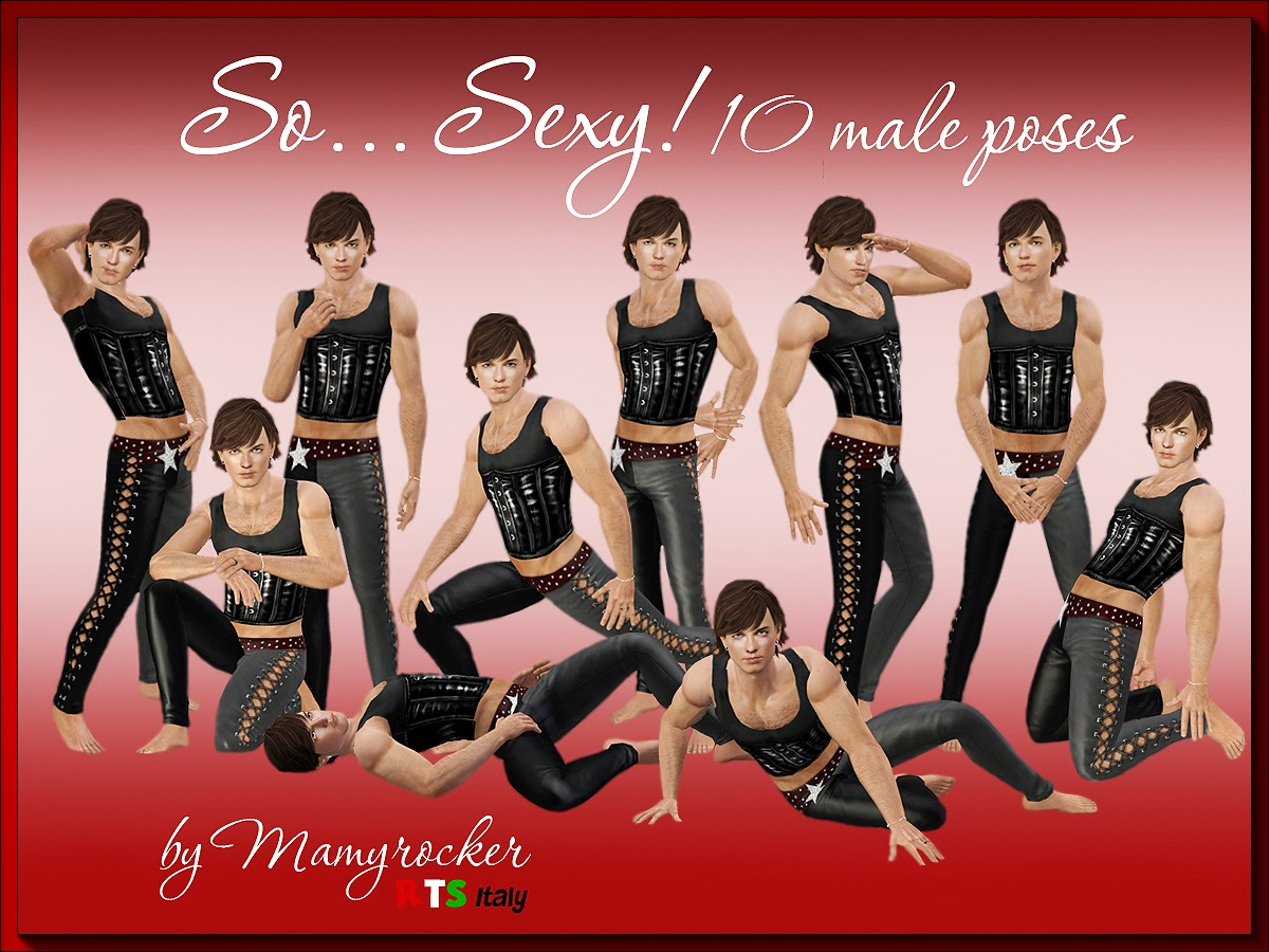 S0 ... Sexy! 10 Man Poses by MamyRocker