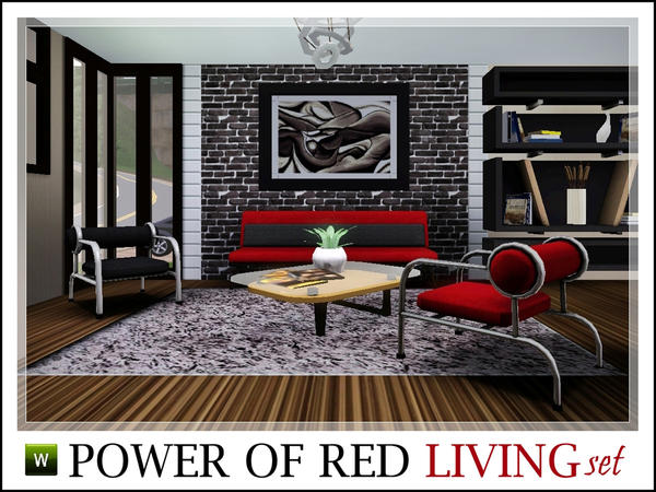 Power of Red Living Set от Ray_Sims