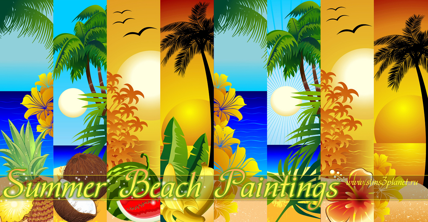 Summer Beach Paintings by Torri
