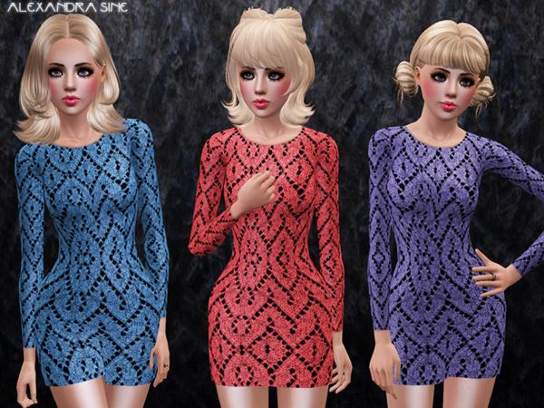Long Sleeve Knit Dress by Alexandra_Sine
