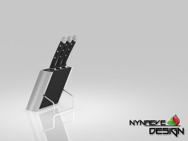 Stainless Steel Knife Block - Kitchen Decoration by NynaeveDesign