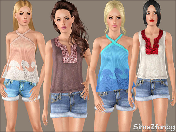 340 - Summer set by sims2fanbg