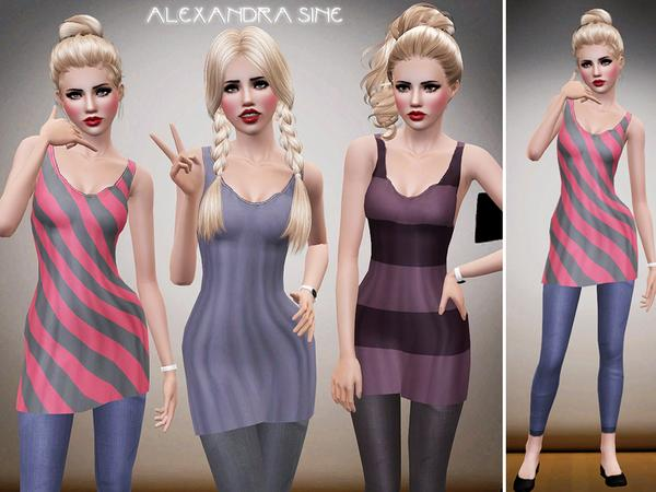 Singlet Dress with Leggings by Alexandra_Sine